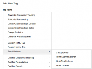 Event Listener Google Tag Manager