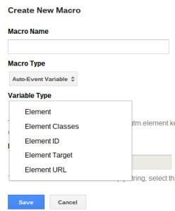 Exemple d'une macro dans Google Tag Manager